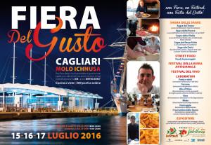 Da venerdì 15 a domenica 17 luglio, il Molo Ichnusa di Cagliari ospiterà la prima edizione della Fiera del Gusto.