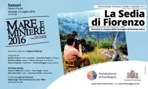 """Mare e Miniere arriva al Palazzo Ducale di Sassari, giovedì 21 luglio, con """"La Sedia di Fiorenzo""""."""