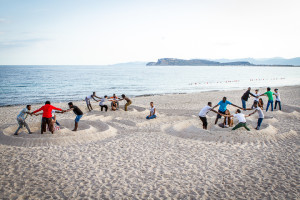 Lab. di sculture di sabbia al Poetto 2