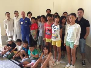 Sedici bimbi di Fukushima al San Giovanni di Dio di Cagliari per i controlli medici post disastro nucleare.