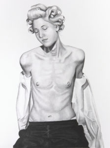 DORIA SHARRA -Israele-  Glamazon_-carbone affilato su carta - cm 48,2x65,7