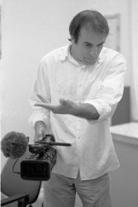 Enrico Pitzianti sul set del film Roba da matti