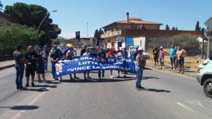 Manifestazione Alcoa a Villamassargia