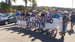 Manifestazione Alcvoa a Portovesme