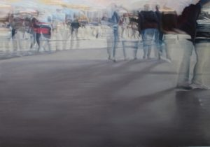 CECCHIN LILIANA - LONG SHADOWS ON EXPO - olio su tela -CM 140X98 (1)-1