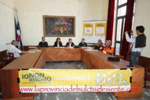 """È stato presentato, questa mattina, a Carbonia, l'evento """"Io non rischio – buone pratiche di protezione civile""""."""