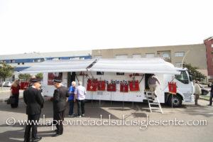 E' stata inaugurata questa mattina la nuova unità mobile di raccolta sangue della Asl 7 di Carbonia.