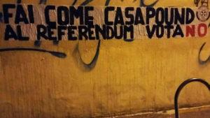 Casa Pound si schiera per il No al referendum costituzionale del 4 dicembre.