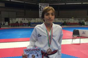 Si è conclusa positivamente la prima esperienza ai Campionati Italiani Cadetti degli atleti della società Dinamico Taekwondo.