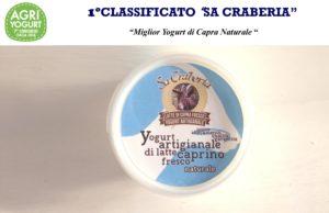 """Il Miglior Yogurt Naturale di Capra d'Italia è quello prodotto dall'azienda """"Sa Craberia"""" di Carbonia (località Medau Brau)."""