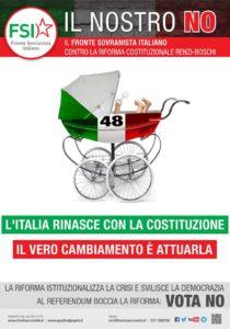 Sabato 19 novembre il Fronte Sovranista Italiano (FSI) farà volantinaggio, al mercato Civico di Via Quirra, a Cagliari, per il NO al referendum.