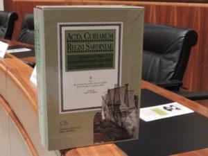 E' stato presentato stamane, in Consiglio regionale, il nuovo volume degli Atti dei Parlamenti sardi.