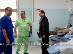 """E' stata celebrata questa mattina, all'ospedale Sirai di Carbonia, la """"Giornata della solidarietà"""", in memoria del maggiore Giuseppe La Rosa."""