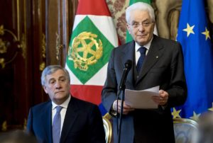 Il presidente del Parlamento europeo Antonio Tajani è intervenuto oggi al Quirinale, dove è stato ricevuto dal presidente Sergio Mattarella.