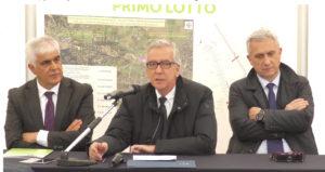 E' stato inaugurato stamane, a Capoterra, il primo lotto dei lavori conclusi per la messa in sicurezza del Rio San Girolamo.