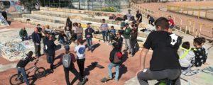 """Si è svolta sabato, a Cagliari, una manifestazione a sostegno del progetto di un nuovo """"skate park""""."""