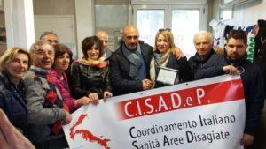 Una delegazione del CISADeP guidata dalla presidente Emanuela Cioni, ieri si è recata ad Amatrice.