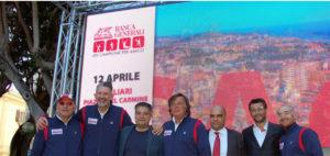 """E' iniziato oggi a Cagliari il tour di """"Un campione per amico"""", con Jury Chechi, Andrea Lucchetta, Francesco Graziani e Adriano Panatta."""
