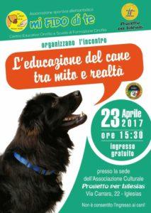 """Domenica 23 aprile, a Iglesias, si terrà l'incontro """"L'educazione del cane tra mito e realtà""""."""