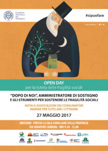 Oristano è una delle 61 città italiane nelle quali sabato 27 maggio si terrà l'Open day per la tutela delle fragilità sociali.
