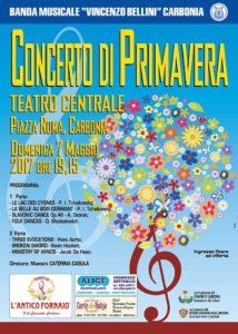 La Banda Bellini di Carbonia domenica sera presenterà, al Teatro Centrale, il Concerto di Primavera.