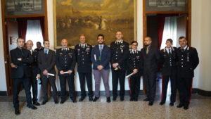 Il generale Paolo Nardone, attuale comandante dei carabinieri in Sardegna, ha premiato con encomi alcuni militari della Compagnia di Carbonia.