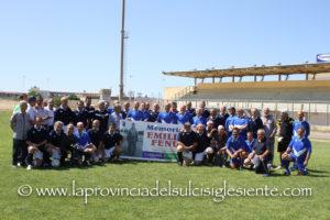 """La formazione delle vecchie glorie della Nuorese ha vinto il """"1° Memorial Emilio Fenu"""", superando le vecchie glorie del Carbonia per 3 a 1."""