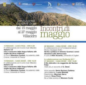 """Un doppio appuntamento con Massimo Fanfani apre sabato 13 maggio, a Villacidro, gli """"Incontri di Maggio""""."""