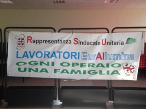 Lunedì 11 febbraio una delegazione della RSU Eurallumina ha incontrato il premier Conte, il ministro per il Sud Lezzi ed il prefetto Tafuri.