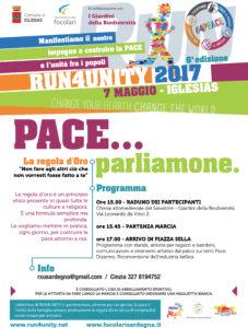 """Domenica, a Iglesias, si terrà una giornata di sensibilizzazione sul disarmo """"Run for Unity – Pace … parliamone""""."""