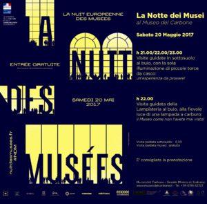 Nuovo appuntamento con la Nuit européenne des musées, la Notte dei Musei, al Museo del Carbone, sabato 20 maggio.