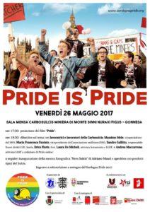 """E' in programma venerdì 26 maggio alle ore 17.30 presso la sala mensa della Carbosulcis, l'iniziativa """"Pride Is Pride""""."""