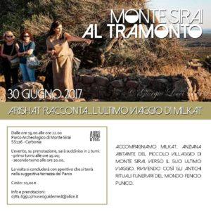 Venerdì 30 giugno ritornano le visite teatralizzate al tramonto a Monte Sirai.