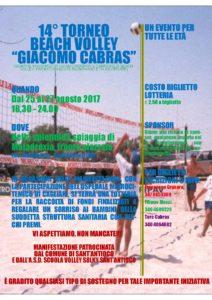 L'ASD Scuola Volley Solki Sant'Antioco organizza la 15ª edizione del torneo di beach volley intitolato a Giacomo Cabras.