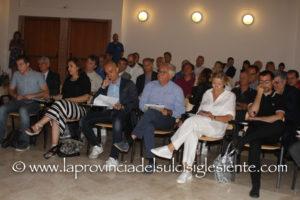 L'intervento del sindaco di Carbonia, Paola Massidda, al convegno sul Piano Sulcis e sulla ricerca svoltosi ieri nella sala convegni della Sotacarbo.