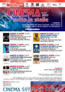 """Al via martedì 27 giugno, a Carbonia, """"Cinema sotto le stelle 2017""""."""