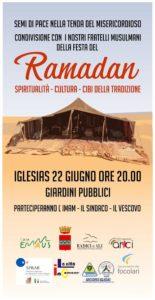 """Giovedì 22 giugno, alle ore 20.00, in occasione della festa del Ramadan, presso i giardini pubblici di Iglesias, si terrà l'evento: """"Tenda del Misericordioso""""."""