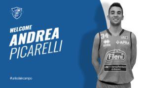 LaDinamo Banco di Sardegnaha completato il roster con il giovaneAndrea Picarelli, guardia-ala classe 1996, lo scorso anno in serie A2 con Jesi.