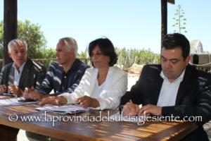 L'assessore dell'Industria, Maria Grazia Piras, ha illustrato a Porto Flavia, le iniziative della Giunta regionale per la valorizzazione dei siti minerari a fini turistici.