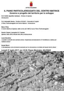 Lunedì 31 luglio, alle 18.30, a Iglesias, si terrà il terzo incontro sul piano urbanistico comunale.