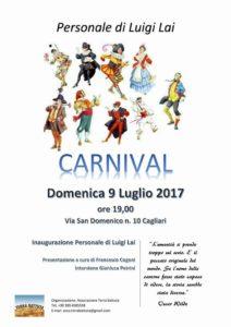 """Verrà inaugurata domenica 9 luglio, a Cagliari, la mostra """"Carnival"""", dell'artista Luigi Lai."""