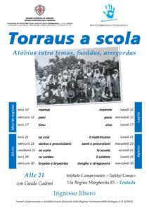 """L'estate teuladina si arricchisce con gli incontri su temi di cultura sarda organizzati dal """"Taddeo Cossu"""", nell'ambito di """"Torraus a scola""""."""