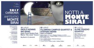 """Sabato sera, alle 21.30, secondo appuntamento con """"Notti a Monte Sirai"""": Italia Vs. England con Filomena Campus Quartet e Stefano Benni."""