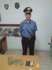 I carabinieri di Santadi ieri hanno arrestato un 40enne di Santadi, Corrado Saba, per il reato di produzione e detenzione illecita di sostanze stupefacenti.