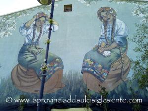 E' stato inaugurato questa sera, in un clima di grande festa, in Piazza della Memoria, a Serbariu, il nuovo murale realizzato e donato alla città di Carbonia dall'artista Debora Diana.