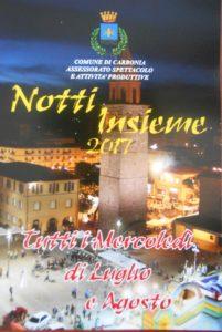 Oggi, a Carbonia, nuovo appuntamento con Nottinsieme 2017.
