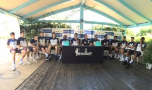 La Dinamo Banco di Sardegna 2017/2018 è stata presentataquesta mattina nel Welcome Day a bordo piscina del resort gallurese Geovillage.