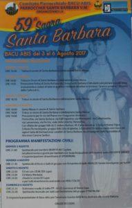 Ha preso il via ieri, a Bacu Abis, la 59ª Sagra di Santa Barbara.