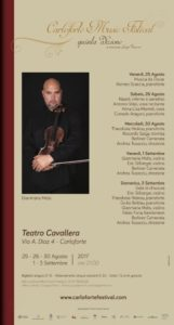 Il Teatro Cavallera di Carloforte, dal 25 agosto al 3 settembre, ospiterà il 5° Carloforte Music Festival.