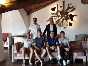 Quattro leggende del tennis mondiale sui nuovi campi del Cervo Tennis Club di Porto Cervo.